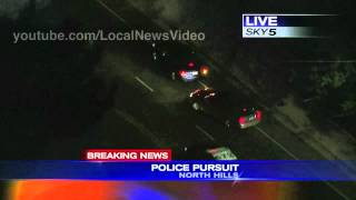 Police Chase - Granada Hill, California May 23, 2013