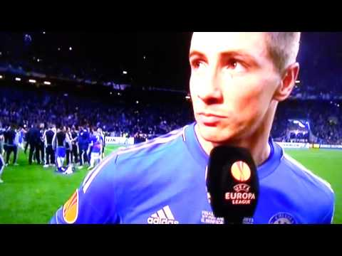 EUROPE: Europa League CUP FINAL INTERVIEW Benfica 1 - 2 Chelsea  BRANISLAV IVANOVIC 15/05/13