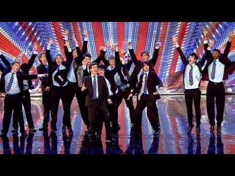 Britain's Got Talent: Singing group Out of the Blue are all students and friends at Oxford and have come to show the judges what they can do with absolutely ...