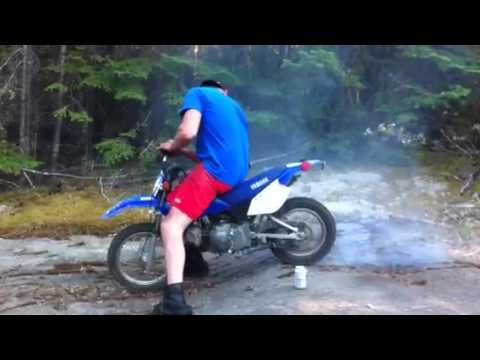 yamaha 90cc mini bike dirt bike burnout youtube