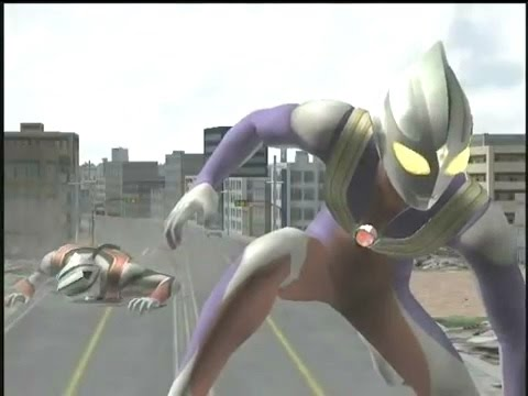 Ultraman  Tiga  Fighting  In  Fe3 & Fer video