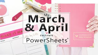March and April | PowerSheets Goals #SafeAtHome