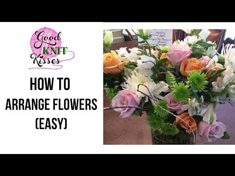 How to Arrange Flowers - easy