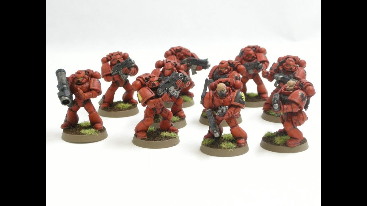 How To Paint Blood Angels Tactical Squad Youtube