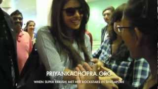 Priyanka Chopra at Changi Airport for IIFA 2012