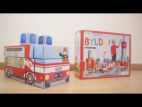 Camion dei pompieri giocattolo per bambini  – Byldo – Sassi Junior