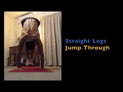 Yoga Jump Through Straight Legs