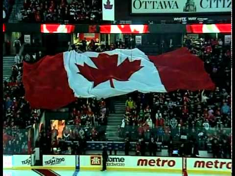 Brooke St Jacques Singing the National Anthem for the Ottawa Senators!! Brooke is only 12 yrs old and was chosen to sing for her Sens in February 2011!!!