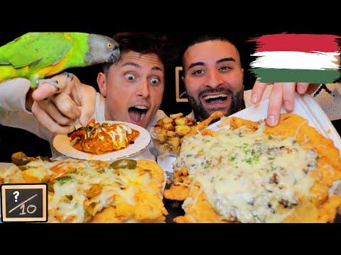 HUGE Wienerschnitzel Mukbang (WITH A BIRD) @ Rhapsody Continental Hungarian Cuisine