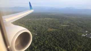 Garuda Indonesia PK-GMS morning landing at Mozes Kilangin Airport in Timika
