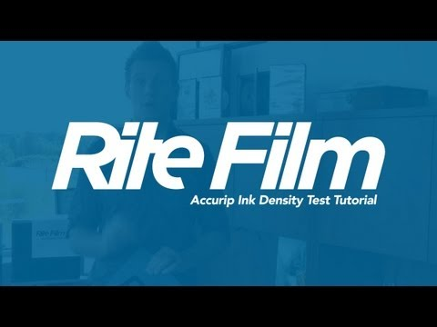 Rite Film Premium WaterProof Film - Accurip Ink Density Test Tutorial, Save Printer Ink