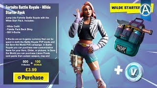 "NEW ""WILDE SKIN"" STARTER PACK in Fortnite Battle Royale! (Fortnite ""WILDE SKIN"" BUNDLE))"