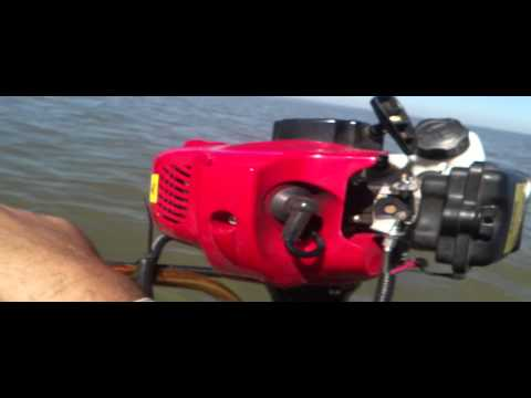 Kayak fishing motor homemade weedeater