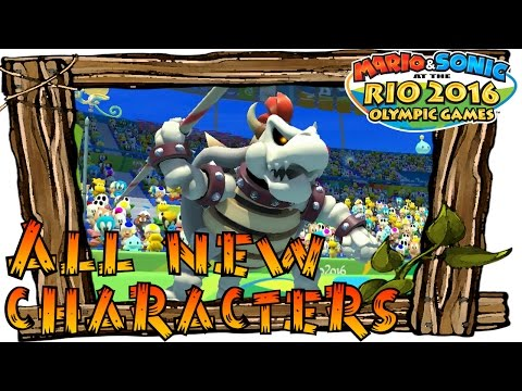 Mario and Sonic at the Rio 2016 Olympic Games Wii U - All New Characters Gameplay