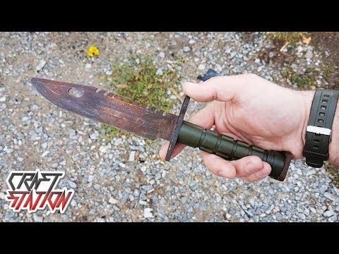 Делаем Штык-нож M9 | Пыльник из стали (DIY CS:GO)