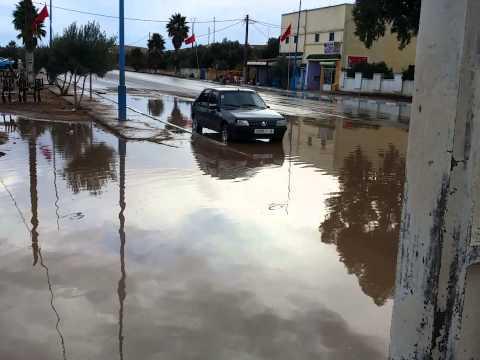 غرق المركز الصحي ودار الأمومة بتفتاشت اقليم الصويرة في فيضانات أمطار الخير والرحمة