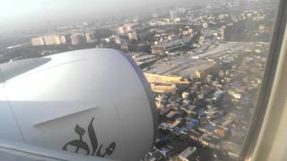 Air Emirates landing at Mumbai Airport