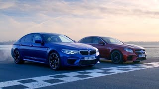 Chris Harris vs Business Stig: BMW M5 vs Merc-AMG E63 S | Top Gear: Series 26