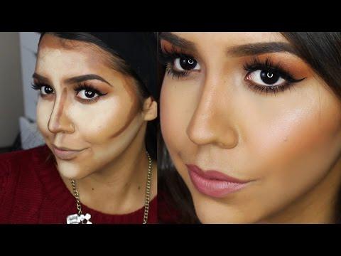 Como Hacer Cirugia Plastica con Maquillaje - Como Contornear el Rostro  Ydelays