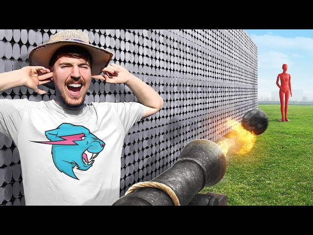 Can 50,000 Magnets Catch A Cannon Ball? thumbnail