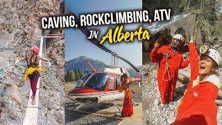 CAVING, ROCK CLIMBING, ATV in Alberta!