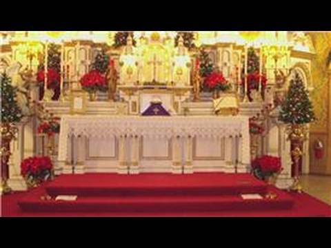Wedding Planning & Decorating Tips : How to Decorate a Church Alter for a Wedding