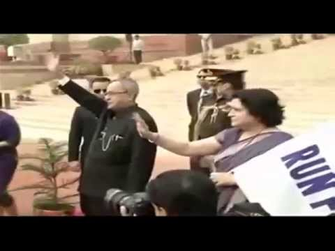President Shri Pranab Mukherjee flags off 'Run For Unity' at Rashtrapati Bhawan