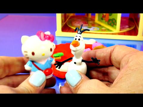 Play Doh Hello Kitty Tree House Playset Frozen Olaf Plastilina Toys Playdough Sanrio ハローキティ