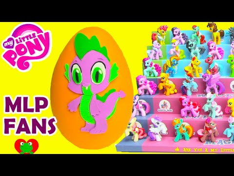 My Little Pony Spike Play Doh Surprise Egg Cutie Mark Magic Pinkie Pie video