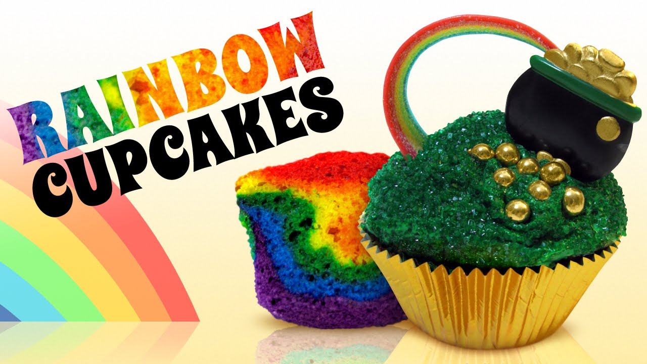 Rainbow cupcakes and decorating ideas youtube for Fun and easy cupcake decorating ideas