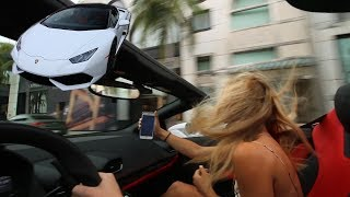 Using Tinder to pick up Girls in a $250,000 Lamborghini
