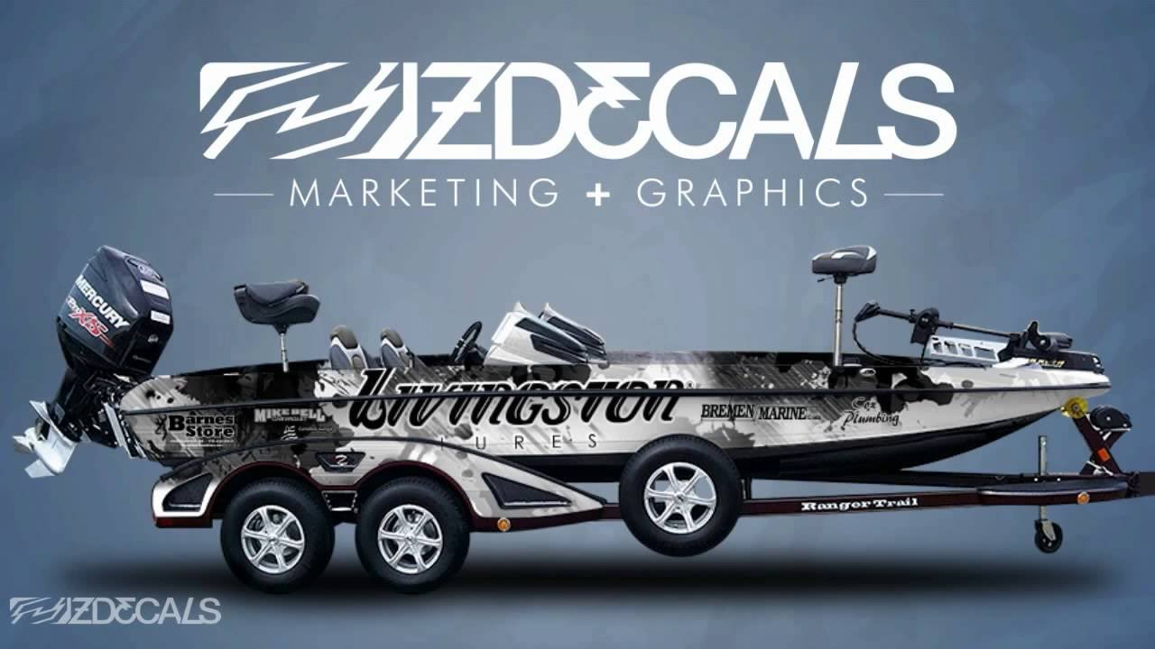 Zdecals Bass Boat Wraps Youtube