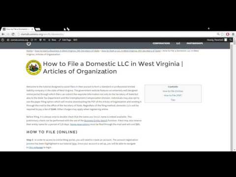 How to Start a LLC in West Virginia | WV Secretary of State