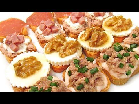 V deos de recetas de canapes for Canapes faciles y rapidos