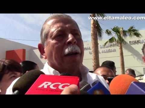 INAUGURA EGIDIO TORRE CANTU CICLO ESC 2014 2015 EN MIGUEL ALEMAN