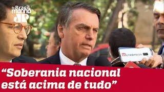 'Não vamos ceder a pressões externas de ninguém', diz Bolsonaro