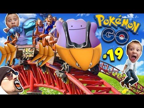 ♪ POKEMON GO DITTO SONG ♬ + Kabutops Roller Coaster NEW EVOLUTIONS! (FGTEEV Update Gameplay #19)