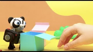 Baby Panda gifts Stop motion cartoon for children - BabyClay