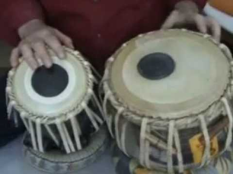 White India  - Tabla Lesson -11 - How to play  Ektaal Theka...