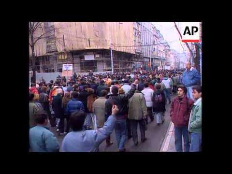 SERBIA: BELGRADE: ANTI GOVERNMENT DEMONSTRATIONS CONTINUE