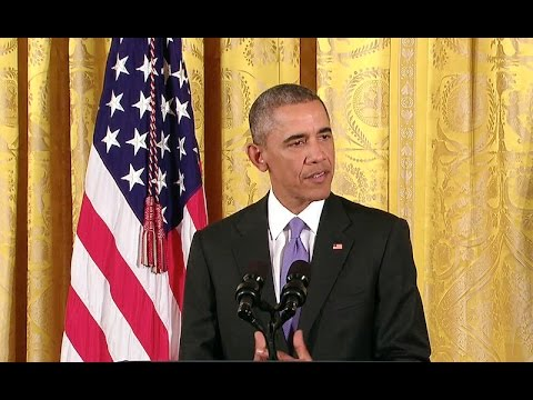 The President Holds a Press Conference on the Nuclear Deal with Iran