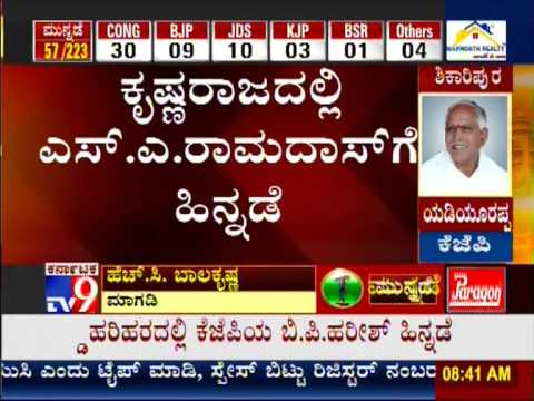 TV9 Live: Counting of Votes : Karnataka Assembly Elections 2013 'Results' - Part 3