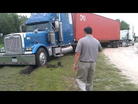 18-Wheeler stuck: Pulled Out By Truck