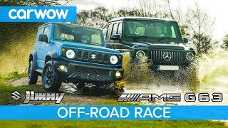 Suzuki Jimny vs Mercedes-AMG G63: OFF-ROAD RACE!