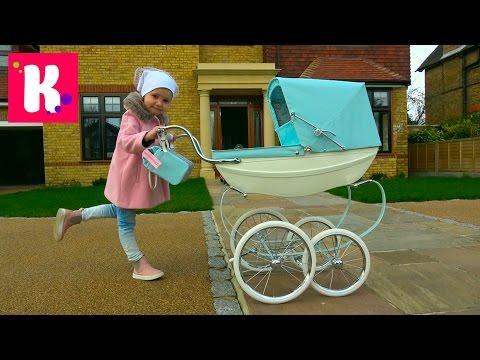 Королевская коляска для куклы Baby Born  Катя купила коляску для Беби борн Эмили Silver Cross pram