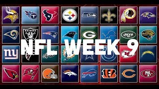 NFL Week 9 Picks & Predictions 2018 | 2019