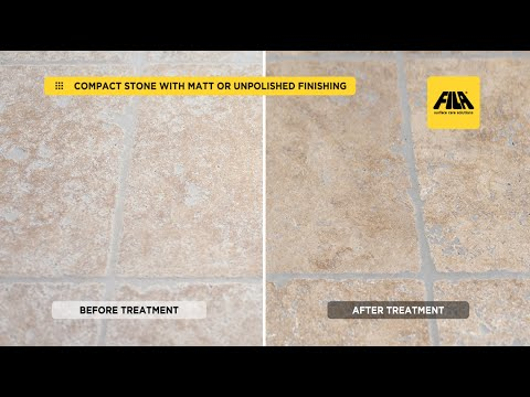 Travertine and Compact Stone: Cleaning and Protection from Stains (en)