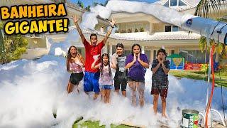 ENCHEMOS A PISCINA COM MUITA ESPUMA! - (LOUCURA) - KIDS FUN
