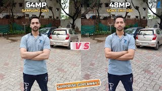 64MP [Samsung GW1] vs 48MP [Sony IMX 586] - Full Comparison | Day,Night,Videos & More & GIVEAWAY !!