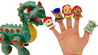 Learn Colors with Paw Patrol Family Finger Song Dinosaur & Mashems | Fizzy Fun Toys